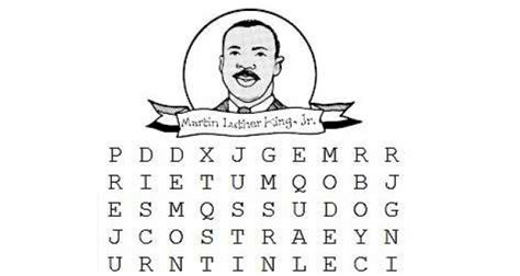 martin luther king jr word search printable