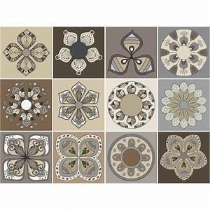 Stickers Carreaux De Ciment : 12 stickers carreaux de ciment salerne salle de bain et ~ Premium-room.com Idées de Décoration