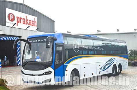 prakash bus corp unveils celeste luxury sleeper coach
