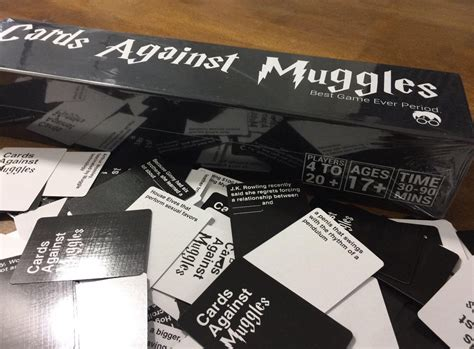 The cards against muggles is patterned on the infamous card game, cards against humanity. Cards Against Muggles Cards With Box PRINTED CARDS - Harry Potter Version of Cards against ...