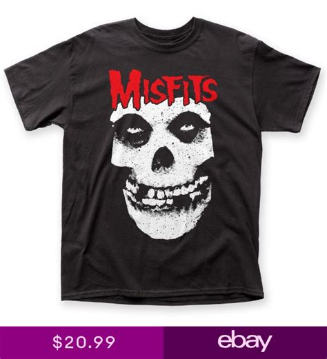 Official Misfits Punk Band Red Logo Skull Fiend T-shirt S ...