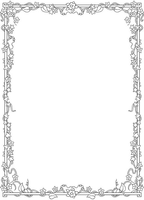 images  bos coloring blank frames  pinterest