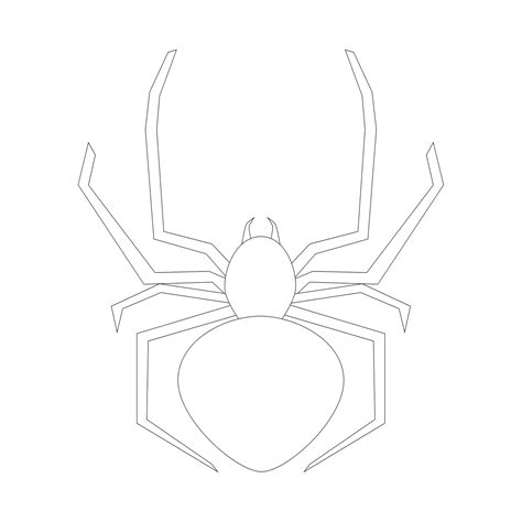 Free Coloring Pages Of Black Widow Spider