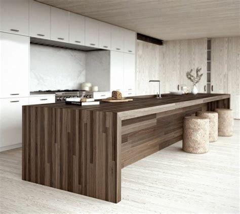 cuisine bois design cuisine minimaliste de couleur blanche 25 idées pour vous
