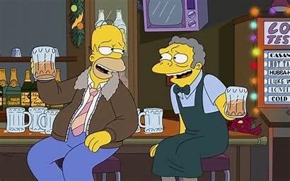 Homer Simpson Beer Moe Simpsons Bar Drinking