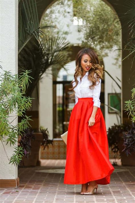 Most Beautiful Red Skirt Outfits Images Sheideas