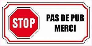 Pas De Pub Merci : 2 petits autocollants stop pas de pub 4x8cm ~ Dailycaller-alerts.com Idées de Décoration