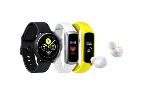 samsung galaxy band samsung launches the galaxy active smartwatch galaxy earbuds and galaxy fit smart band