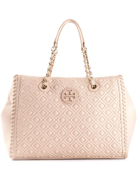 burch marion quilted slouchy tote burch marion quilted slouchy tote in pink pink
