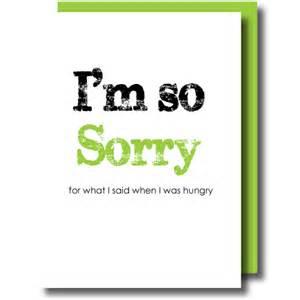 I'm so Sorry Card