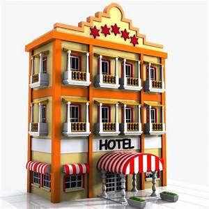 3d max cartoon hotel toon