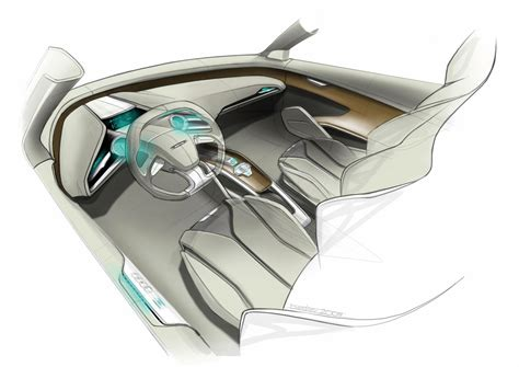 Audi E Tron Concept Interior Design Sketch