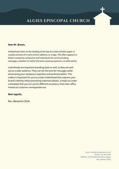 customize  church letterhead templates  canva