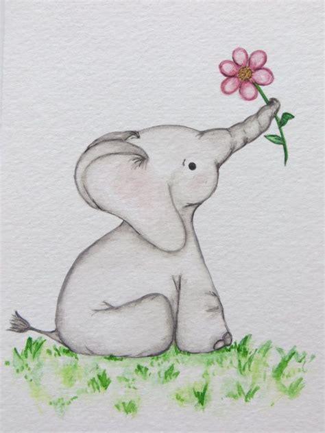 baby elephant drawing ideas  pinterest cute