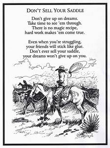 Don't sell your saddle #horsepoem | Horse & Rider Sayings ...
