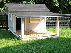 Dog kennels two dogs and porches on pinterest for Large dog house with porch