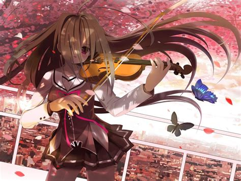 Violin Wallpaper Anime - anime sad with violin anime violin wallpaper