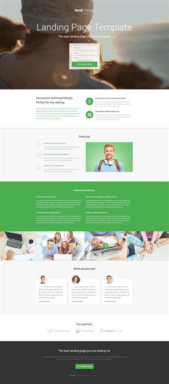 Desarrollo Web Templat by Plantilla Para P 225 Gina De Aterrizaje 53378 Para Sitio De