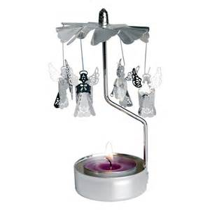 dotcomgiftshop rotating silver angels tea light candle holder christmas decor ebay