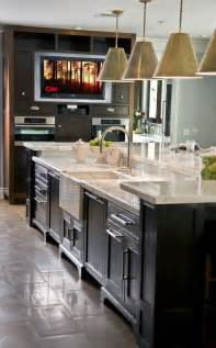 kitchen island sink two tiered kitchen island ideas