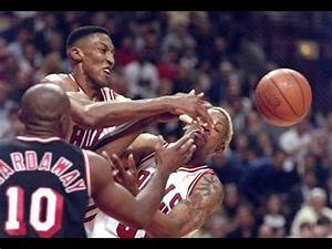 Michael Jordan and Scottie Pippen give each other ...