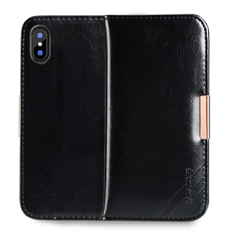 apple leather iphone apple iphone x leather kld royale ii black