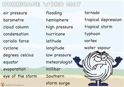 descriptive words for a storm