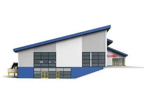 warehouse factory exterior  model cgtrader