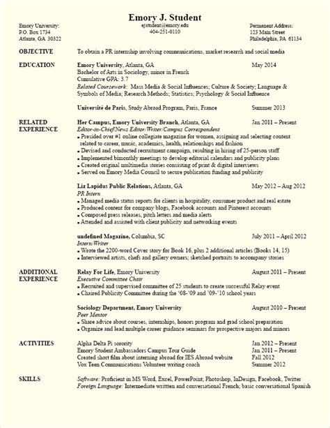 Resume With Coursework Listed by Coursework On Resume Template Resume Builder