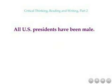 Cpn 101 Critical Thinking, Reading And Writing, Part 2