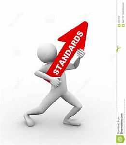 3d Man Holding Word Text Standard Stock Illustration