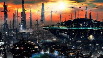 Sci Fi Cities Wallpapers Futuristic Science Backgrounds