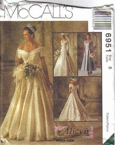 oop bridal wedding gown bridesmaid dress misses size With wedding dress patterns mccalls