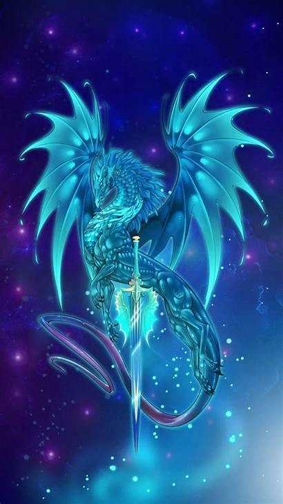 Dragon Wallpapers Neon Galaxy Mythical Iphone Mystical