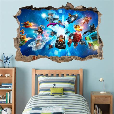Lego Characters Ninjago Batman Smashed Wall Decal Graphic