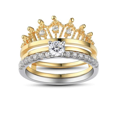 crown cut white sapphire sterling silver s wedding ring lajerrio jewelry