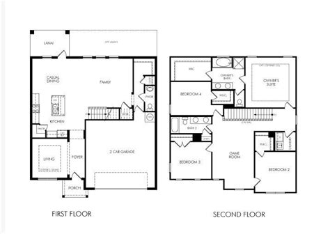 2 house plans with 4 bedrooms awesome 2 4 bedroom house plans 7 simple 2