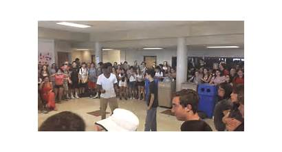 Dance Clapping Cafeteria Crowd Wild Students Yelling