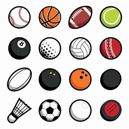 Balls Ball Sport Vector Play Objects Background