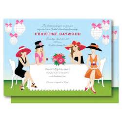 bridal brunch invitation wording garden bridal shower invitation chagne brunch big hat