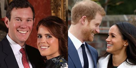 Prince Harry and Princess Eugenie's wedding portraits compared | Daily Mail Online