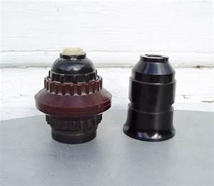 Bakelite lamp sockets vintage repair parts electrical