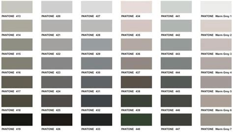pantone color chart executive apparel colour palettes
