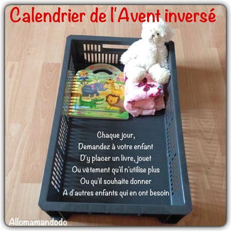 calendrier de l avent invers 233 apprendre aux enfants a donner pour recevoir allo maman dodo