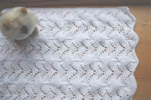 Reversible Lace Baby Blanket Pattern