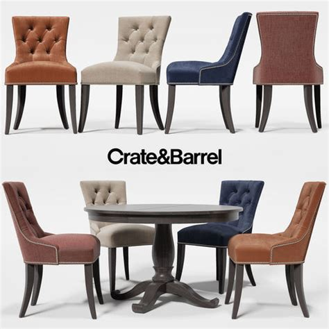 Crate And Barrel Glow Table L by Chair Cecelia Table Avalon From Crate And Barrel 3d Model