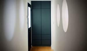 placard dentree en mdf laque anthracite atelier bois With porte d entrée pvc avec porte de placard salle de bain sur mesure