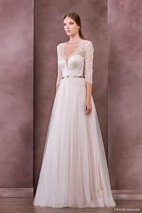 divine atelier 2015 wedding dresses nostalgia bridal With wedding dress 3 4 sleeve
