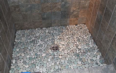 pebble rock shower floor pebble tile bathrooms bathroom tile