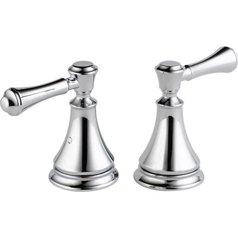 Delta Cassidy Freestanding Tub Faucet by Delta Pair Of Cassidy Metal Lever Handles For Tub